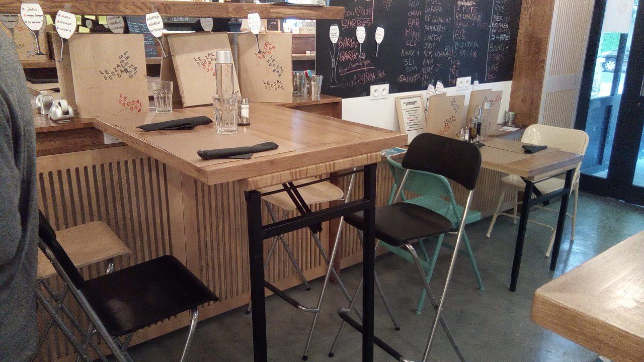 Realisation Social Bar Projet Artisan